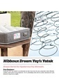 Hibboux Dream Yaylı Yatak 160x200 Cm Beyaz
